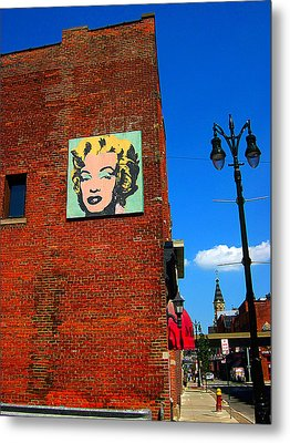 Marilyn Monroe In Detroit Metal Print by Guy Ricketts