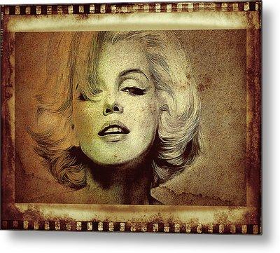 Marilyn Monroe Star Metal Print by Ericamaxine Price