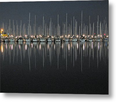 Metal Print featuring the photograph Marina At Night by Farol Tomson