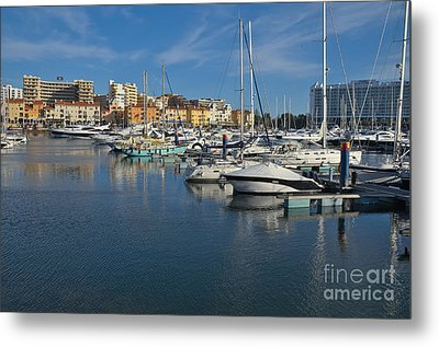 Marina Of Vilamoura At Afternoon Metal Print