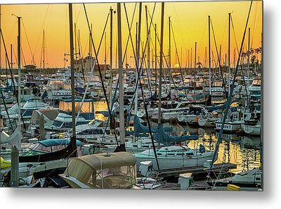 Metal Print featuring the photograph Marina Sunset by April Reppucci