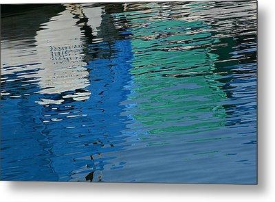 Marina Water Abstract 1 Metal Print by Fraida Gutovich