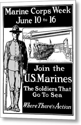 Marine Corps Week - Ww1  Metal Print by War Is Hell Store