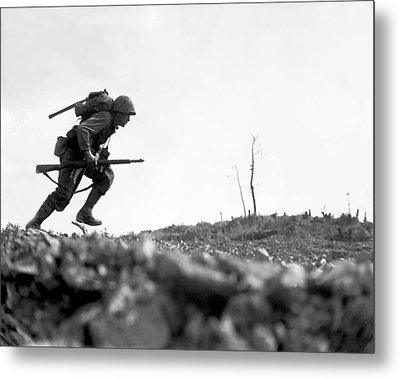 Marine Dash On Okinawa Metal Print by War Is Hell Store