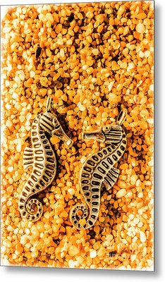 Marine Seahorse Ocean Charms Metal Print by Jorgo Photography - Wall Art Gallery