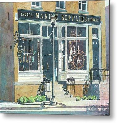 Marine Supply Store Metal Print