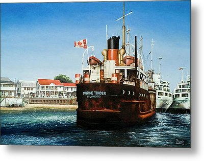 Metal Print featuring the painting Marine Trader by Michael Frank