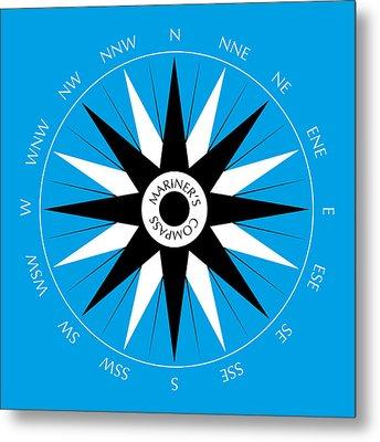 Mariner's Compass Metal Print by Frank Tschakert