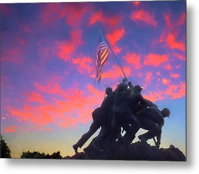 Marines At Dawn Metal Print by JC Findley