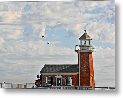 Mark Abbott Memorial Lighthouse  - Home Of The Santa Cruz Surfing Museum Ca Usa Metal Print by Christine Till