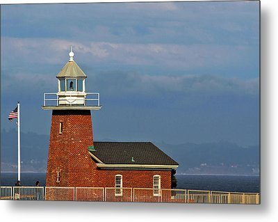 Mark Abbott Memorial Lighthouse California - The World's Oldest Surfing Museum Metal Print by Christine Till