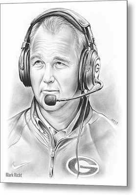 Mark Richt  Metal Print by Greg Joens