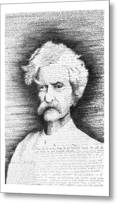 Mark Twain In His Own Words Metal Print by Phil Vance