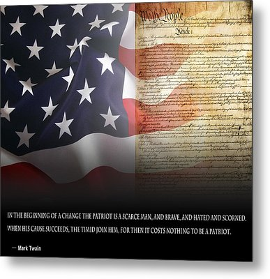 Mark Twains Patriot Metal Print by Daniel Hagerman