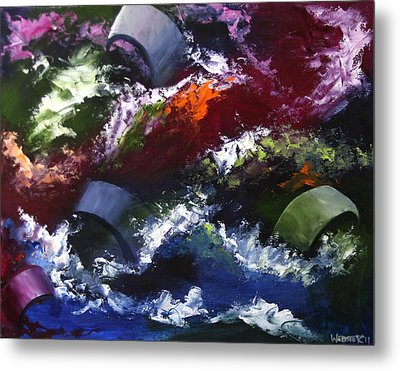 Metal Print featuring the painting Mark Webster - Abstraction 1 by Mark Webster