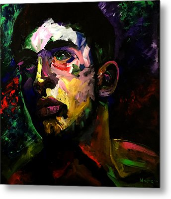 Metal Print featuring the painting Mark Webster Artist - Dave C. 0410 by Mark Webster Artist