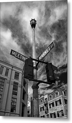 Market And Meeting Metal Print by Wendy Mogul