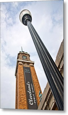 Market Clock Tower Metal Print