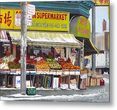 Market  Day  Metal Print by Margit Sampogna