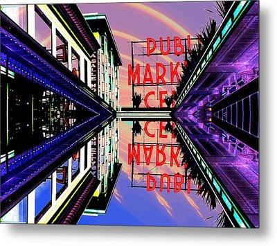 Market Entrance Metal Print