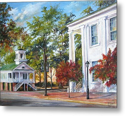 Market Hall In The Fall Metal Print by Gloria Turner