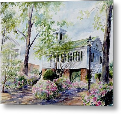 Metal Print featuring the painting Market Hall In The Spring by Gloria Turner