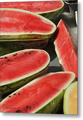 Metal Print featuring the photograph Market Melons by Michael Flood