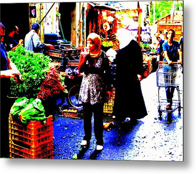 Market Scenes Of Beirut Metal Print by Funkpix Photo Hunter