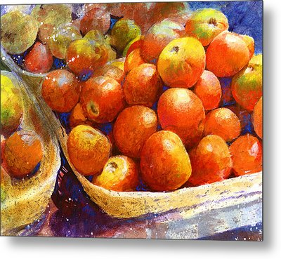 Metal Print featuring the painting Market Tomatoes by Andrew King