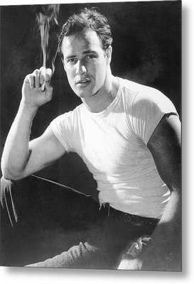 Marlon Brando, Portrait From A Metal Print by Everett