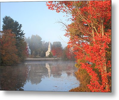 Marlow Village Early Autumn Morning Metal Print
