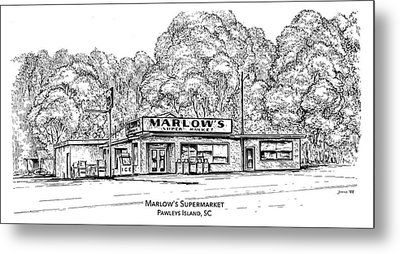 Marlows Market Metal Print