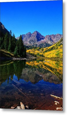 Maroon Bells In Aspen 2 Metal Print by Bruce Hamel