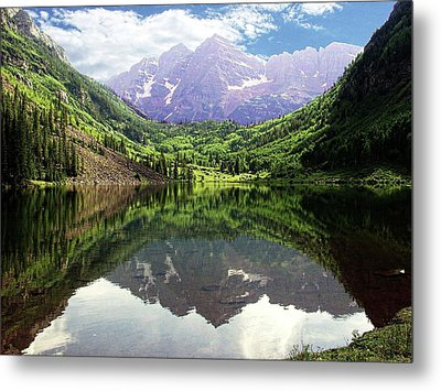 Metal Print featuring the photograph Maroon Bells  by Jerry Battle