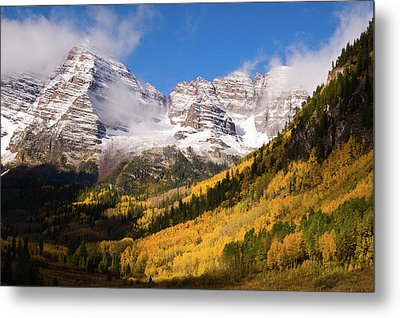 Metal Print featuring the photograph Maroon Bells by Steve Stuller