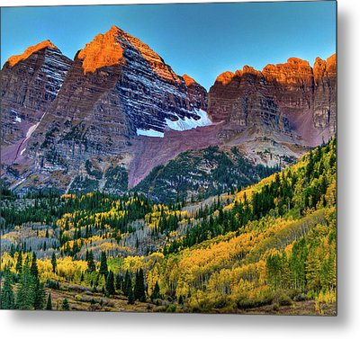 Maroon Bells Sunrise Metal Print