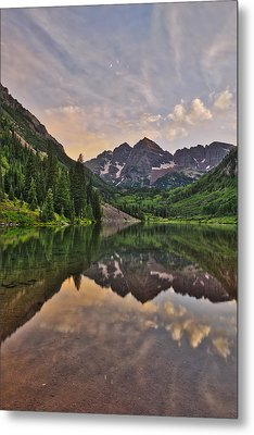 Maroon Bells Sunset - Aspen - Colorado Metal Print by Photography  By Sai