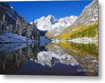Maroon Lake And Bells 1 Metal Print by Ron Dahlquist - Printscapes