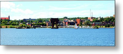 Marquette Michigan Harbor One Metal Print by Phil Perkins