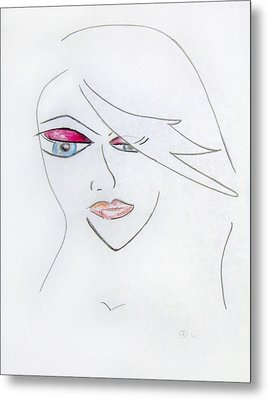 Marriage Of Anime And Fashion Art Metal Print by Donna Blackhall
