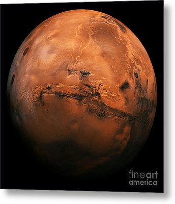 Mars The Red Planet Metal Print by Edward Fielding