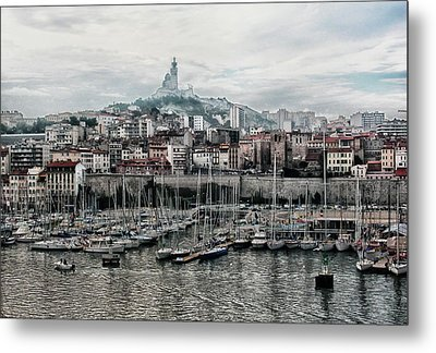Metal Print featuring the photograph Marseilles France Harbor by Alan Toepfer