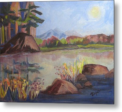 Metal Print featuring the painting Marsh Land by Betty Pieper