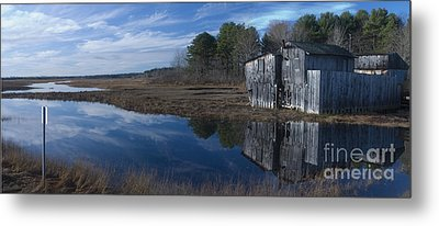 Metal Print featuring the photograph Marsh Reflection by David Bishop