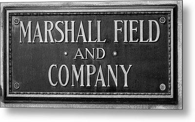 Marshall Field Plaque Metal Print