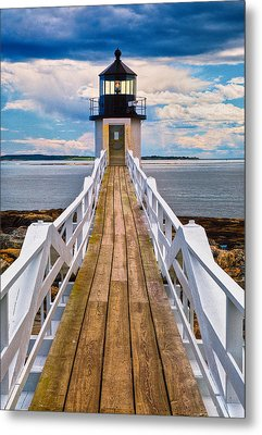 Marshall Point Lt. Metal Print by Fred LeBlanc