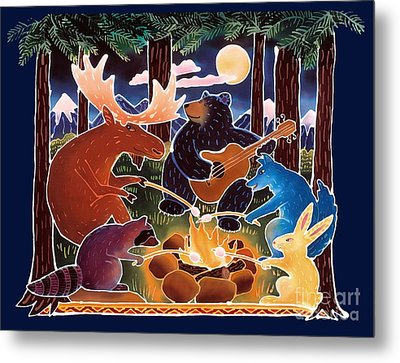 Marshmallow Roast Metal Print