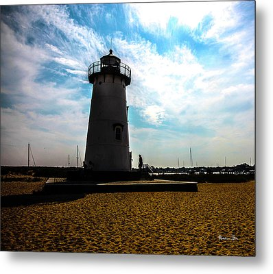 Metal Print featuring the photograph Martha's Vineyard Lighthouse - Massachusetts by Madeline Ellis