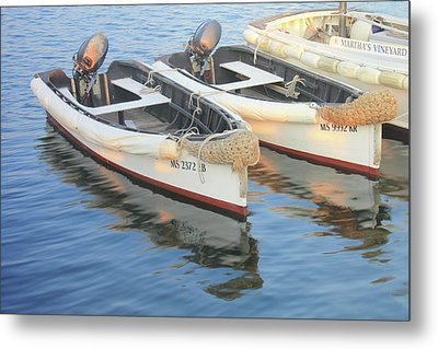 Metal Print featuring the photograph Martha's Vinyard Skiffs by Roupen  Baker