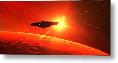 Martian Voyage By Raphael Terra Metal Print by Raphael Terra